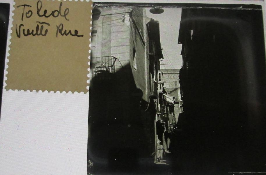 Calle Martín Gamero   hacia 1935. Cristal estereoscópico de autor anónimo francés.