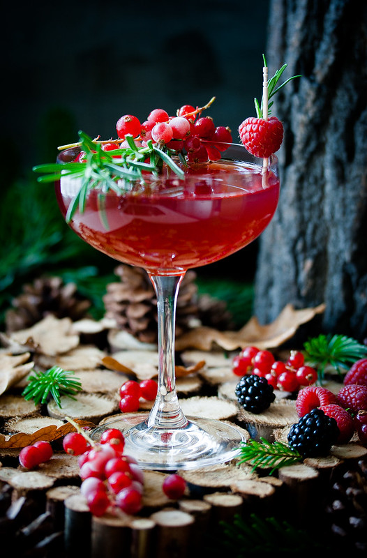 Hedgerow Martini- Sloe Gin Cocktail