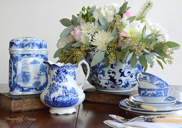 Blue and White Vignette-Housepitality Designs-7