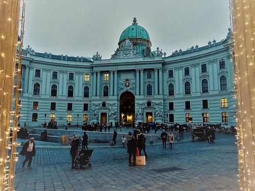 Wien, 1. Bezirk (very historic places in the core of downtown Vienna), Hofburg/Michaelertrakt (Michaelerplatz)