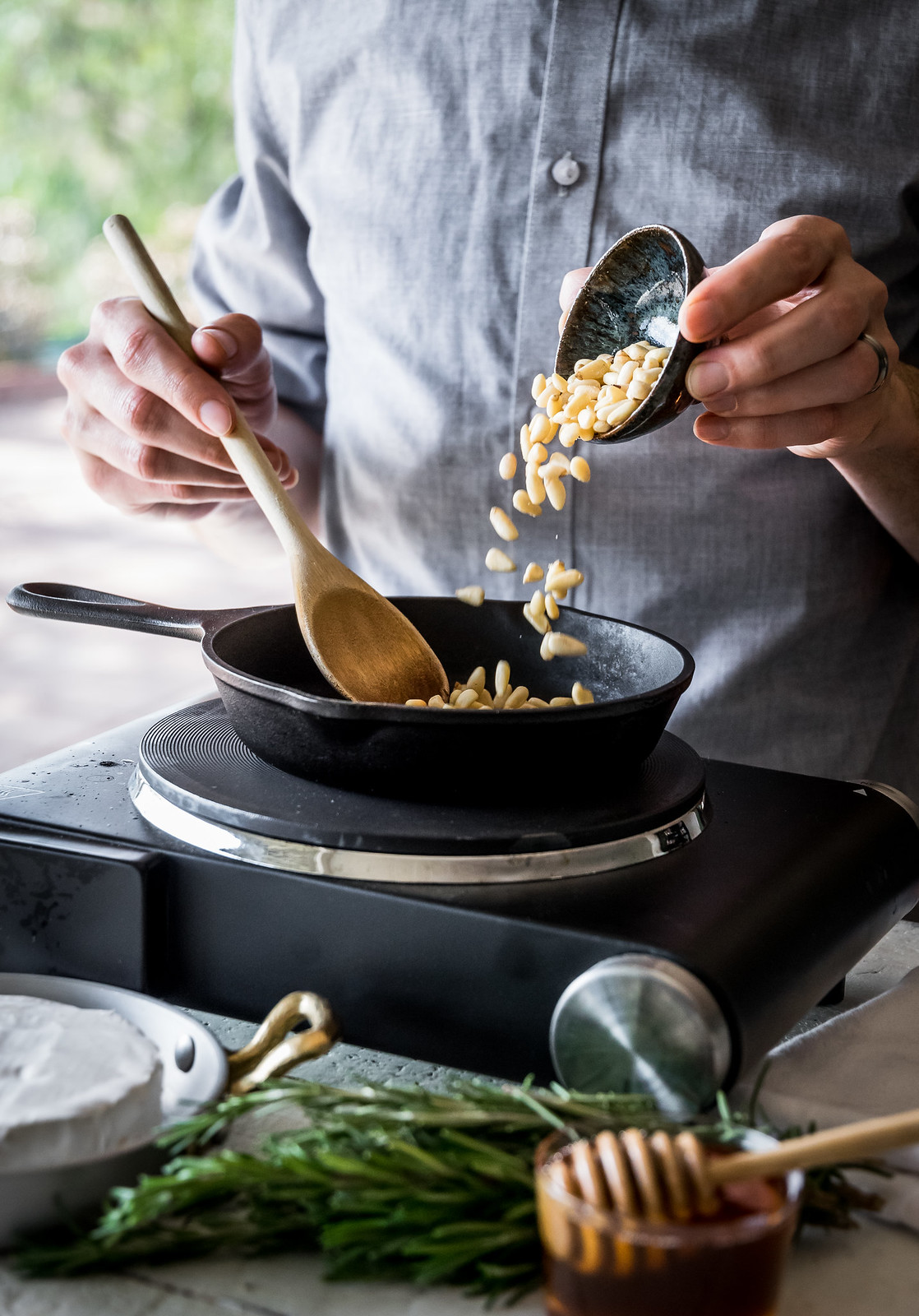 toasting the pine nuts makes them much more flavorful