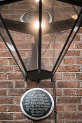 Photo of John Dryden black plaque