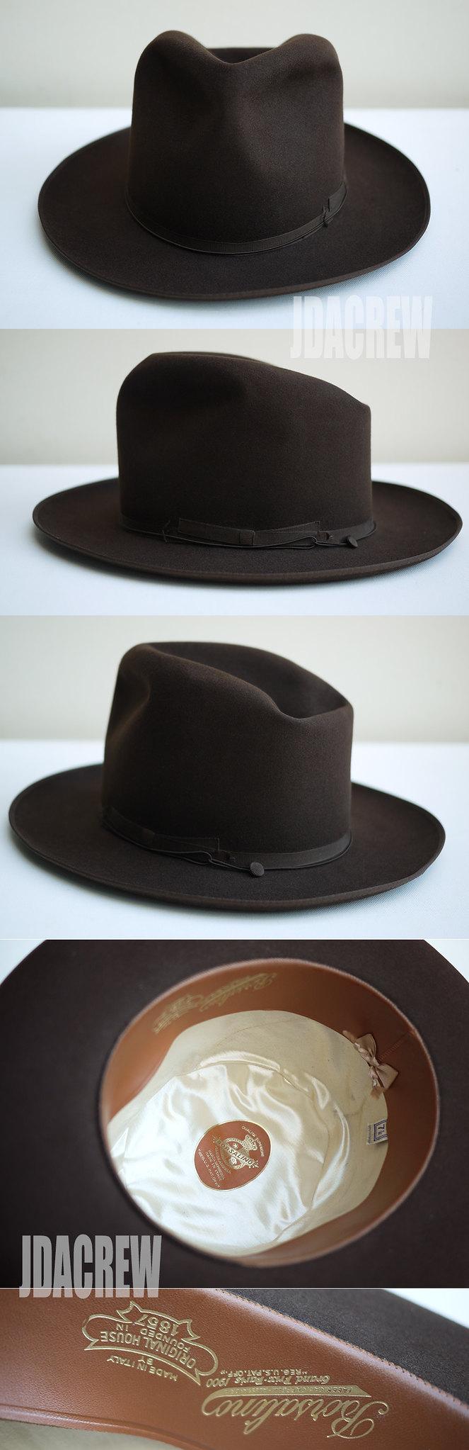 ヴィンテージハットボルサリーノアレックスブラウンハット帽子