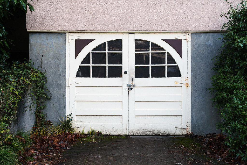 An old garage in the Irvington neighborhood of Portland, Oregon