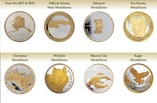 Alaska Mint medallions