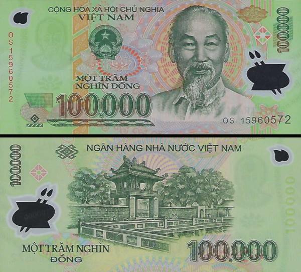 100 000 Dong Vietnam 2015, polymer P122k