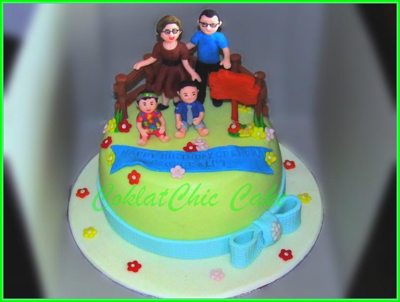 Cake Family Grandma George & Livi 15cm