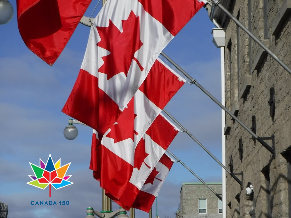 Canada Flags School of Public Service