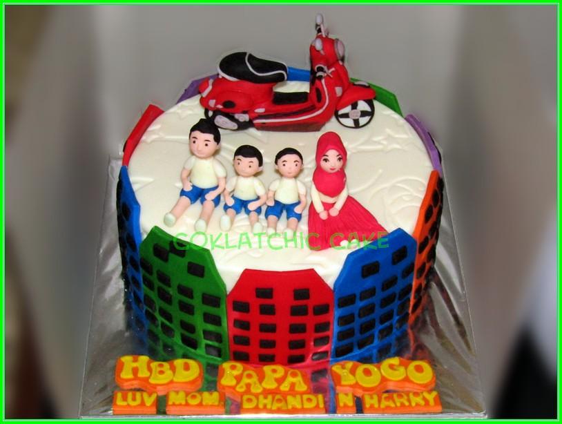 Cake family vespa Papa Yogo 20cm