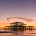 West Pier and starling murmuration by lomokev