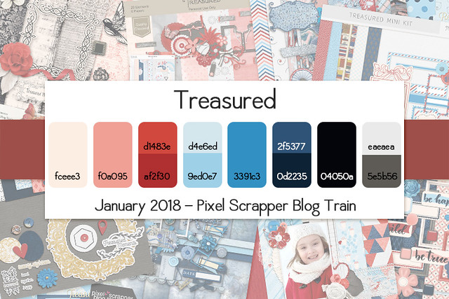 Pixel Scrapper January 2017 Blog Train