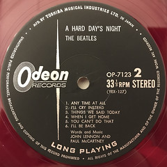 THE BEATLES:A HARD DAY'S NIGHT(LABEL SIDE-B)