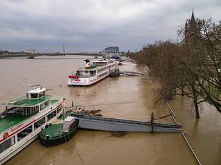 Blick von der Hohenzollernbrücke