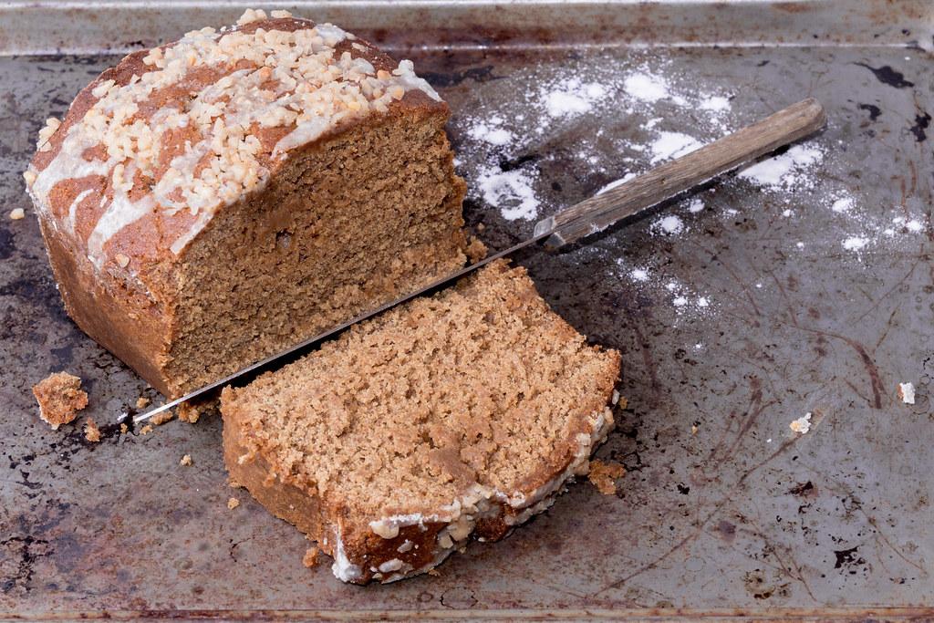 Ginger Bread Loaf Being sliced