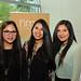 Constanza Yáñez, Karol Aguirre y Caroline Araya