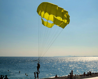 Parasailing in Nice, France.