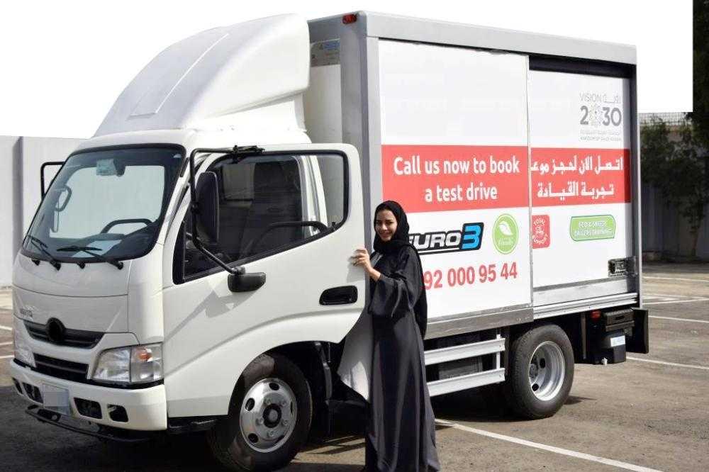 سعوديات قيادة الشاحنات