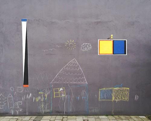 """Piotr Lityński, """"Mur, który łączy"""", fragment 2017"""