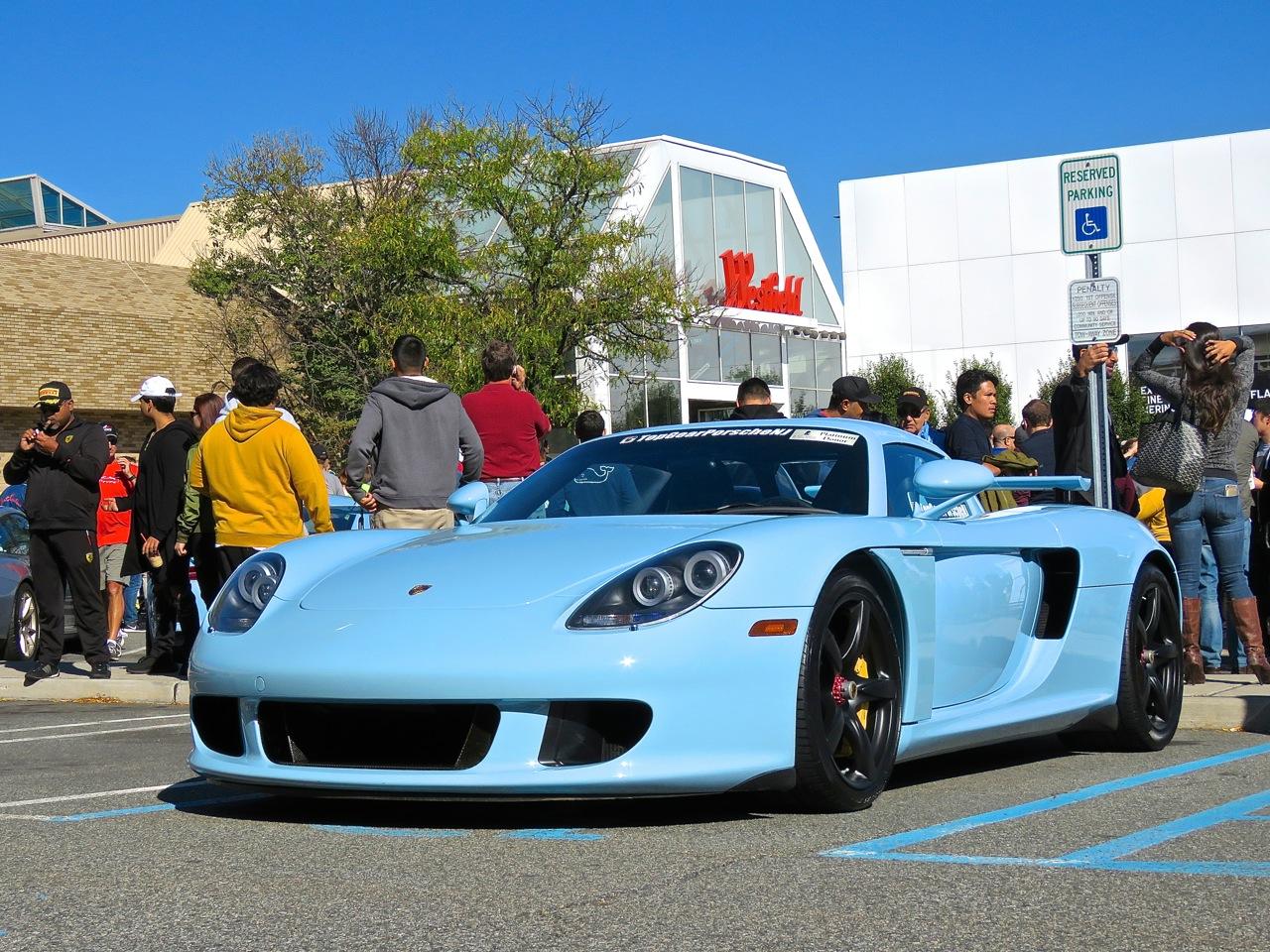 Baby Blue Porsche Carrera GT 9