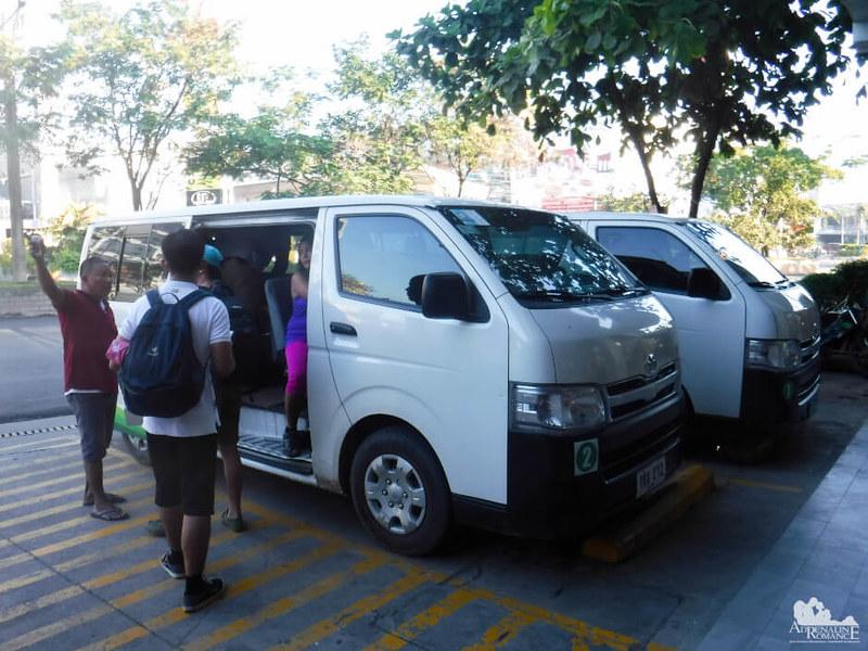 Comfortable charter van