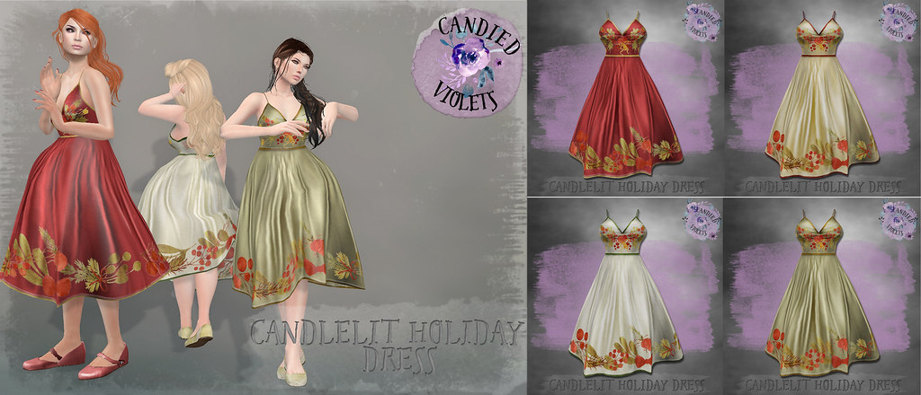 Candlelit Holiday Dress poster Social Media