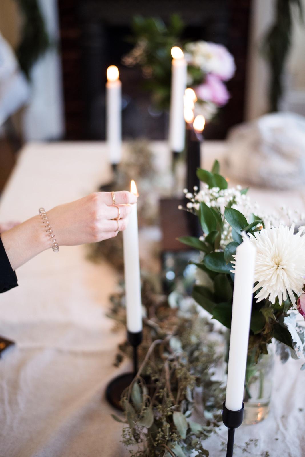 Lighing The Candles on juliettelaura.blogspot.com
