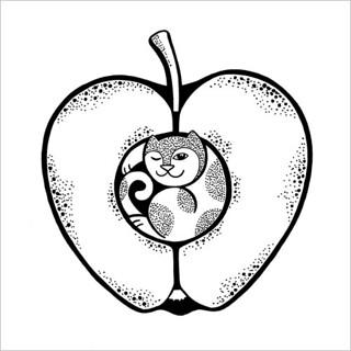 Apple cat / Яблочный кот