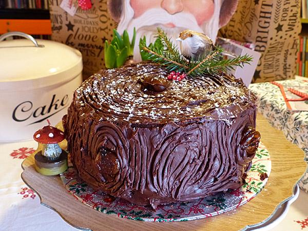 Layer cake comme une bûche