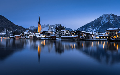 Blue Hour at Tegernsee from Toni Hoffmann