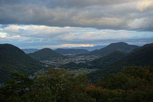 五色台スカイラインからの景色は山側も海側もすばら