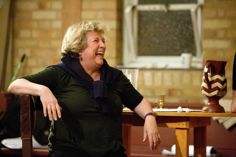 The Hypocrite in rehearsal. Pictured: Caroline Quentin. © Pete Le May