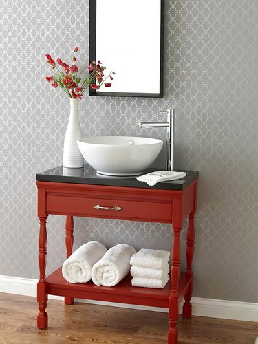 Home Makeover Ideas : Vintage thrift store and flea market furniture finds can be revived with some TL...