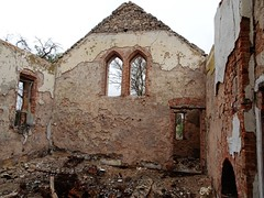 Barabba near Hamley Bridge. Ruins of the 1877 built Gothic school room. Destroyed by Pinery bushfire in 2015. Closed 1960.