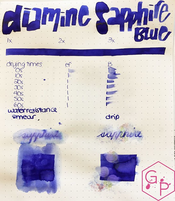 Ink Shot Review Diamine Sapphire Blue @BureauDirect 2
