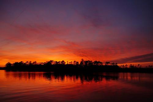sunset spectacularsunsetsandsunrises cloudsstormssunsetssunrises clouds cloudscape fairfieldharbour northwestcreek northcarolina sony sonya58 sonyphotographing sky redclouds reflections