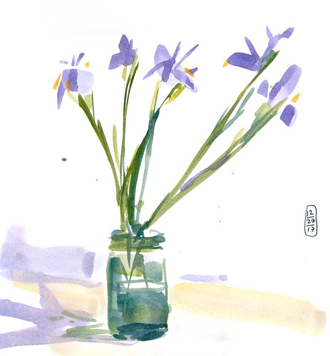 Sketchbook #110: New Year Flowers
