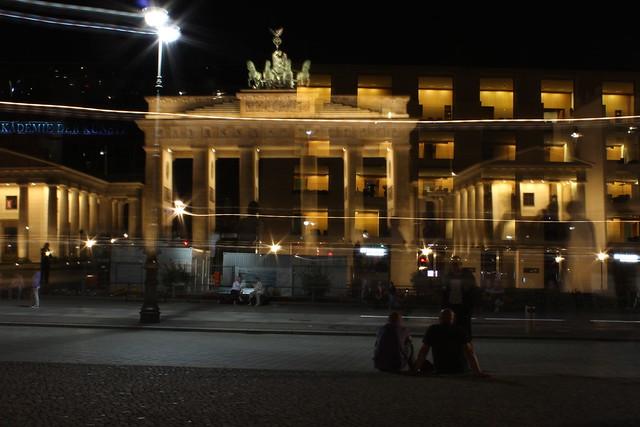 Verwackelungseffekte Brandenburger Tor und Pariser Platz