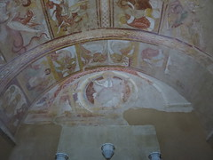 The abbey church of Saint-Savin: Porch frescoes - Photo of Saint-Savin