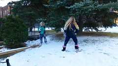 Playing In The Snow After School