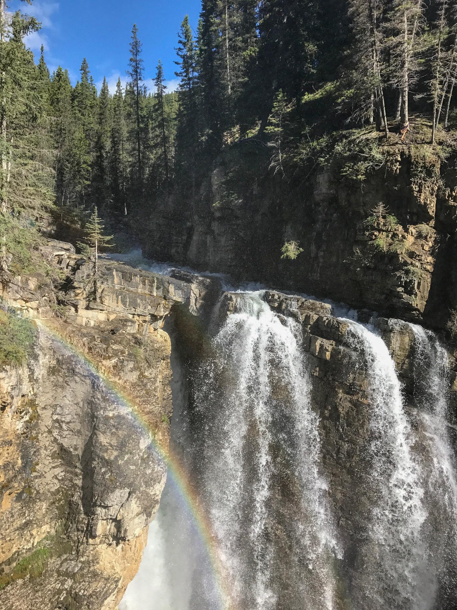 Rainbow at Johnston Canyon
