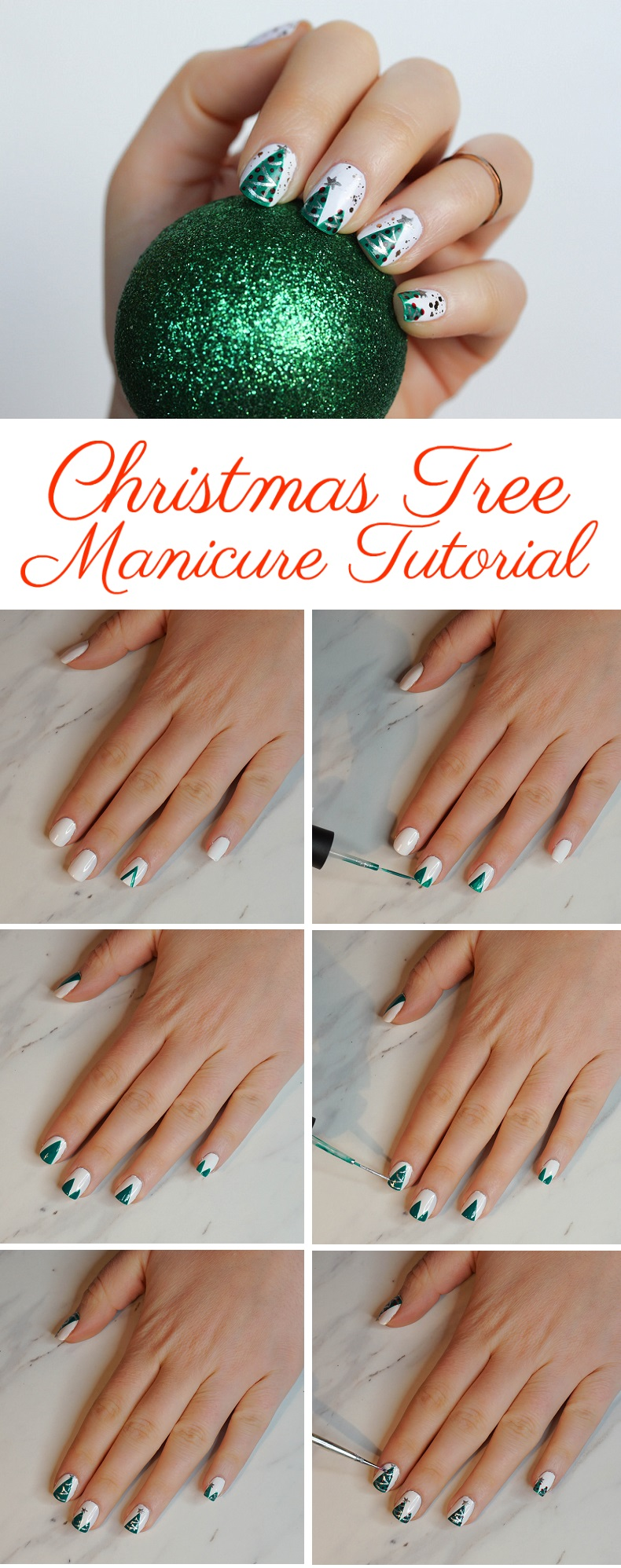 The Best & Easiest Christmas Tree Manicure Tutorial