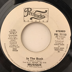 MUSIQUE:IN THE BUSH(LABEL SIDE-B)