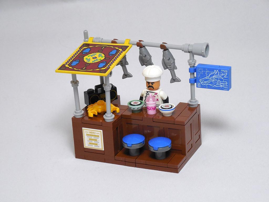 LEGO® MOC by Vitreolum: Cyberpunk #2 – Sushi Joint