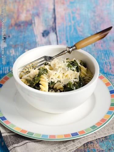 Grünkohl-Pasta mit Thymian-Ziegenfrischkäse (1)