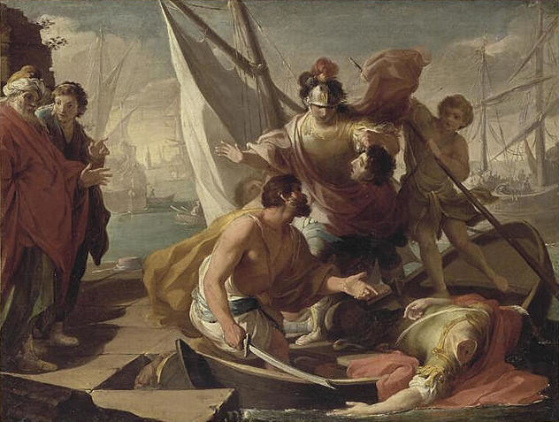 Assassination of Pompey, by unknown author