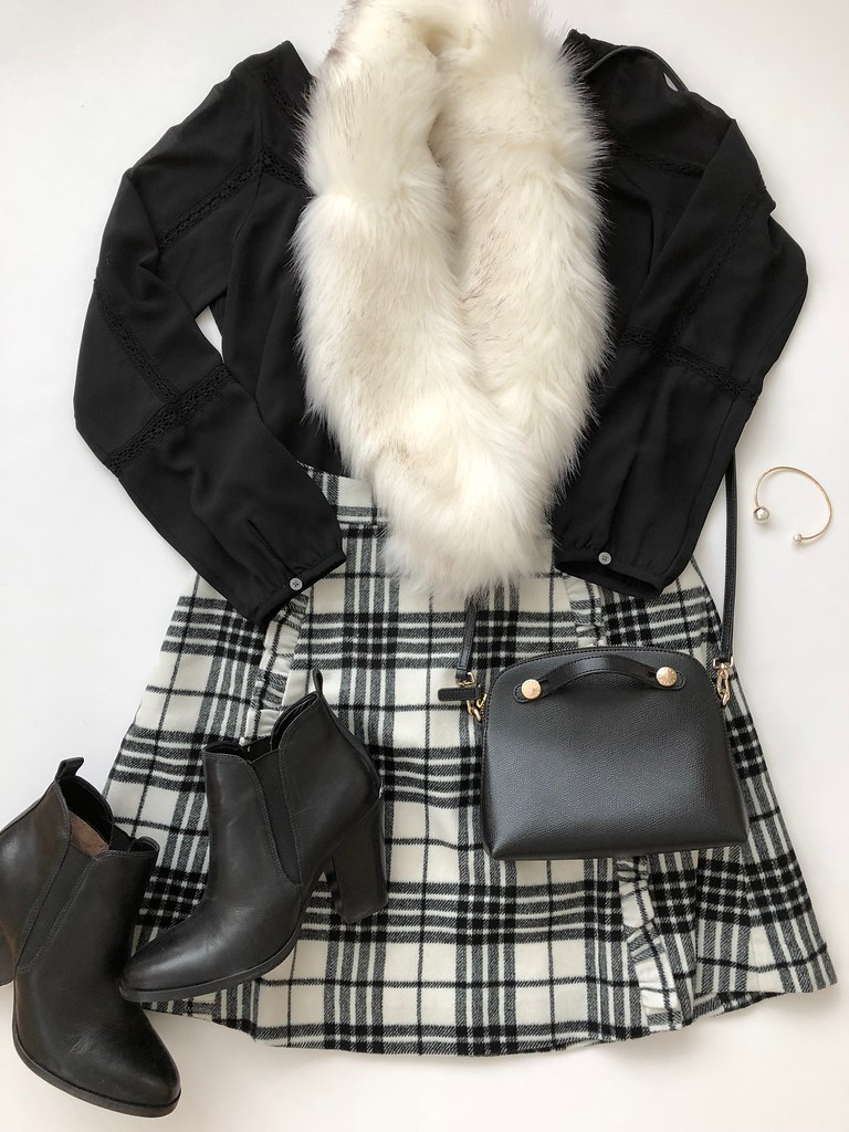 Styling a Plaid Skirt - Outfit 3