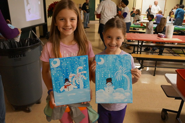 Canvas, Cookies and Cocoa (PTF SAR Family Paint Night)