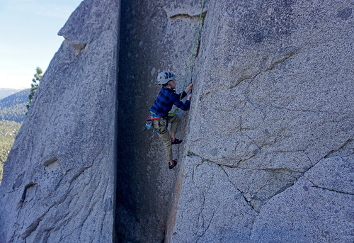 Max rock climbing Phantom Spires