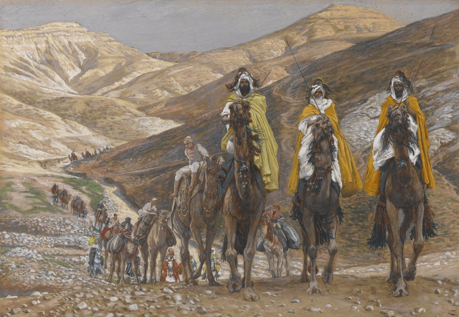 The Magi Journeying by James Tissot, circa 1890. Brooklyn Museum, New York NY