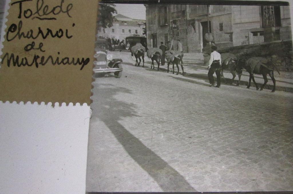 Cuesta de las Armas (subida al Miradero)  hacia 1935. Cristal estereoscópico de autor anónimo francés.